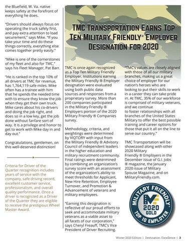 Page 3 of TMC's Driver of the Quarter