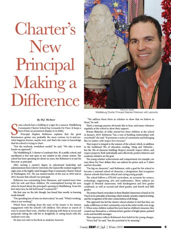 Page 5 of Charter's New Principal Making a Difference