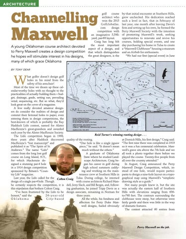Page 16 of Perry Maxwell design contest takes off