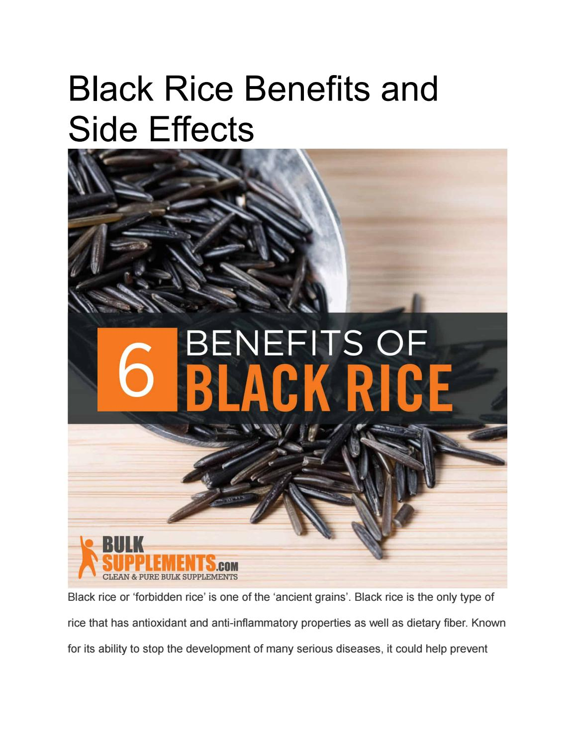 Black Rice Benefits And Side Effects By Bulksupplements1 Issuu