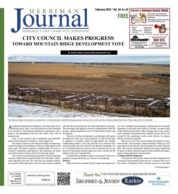 Herriman City Journal February 2020 By The City Journals Issuu