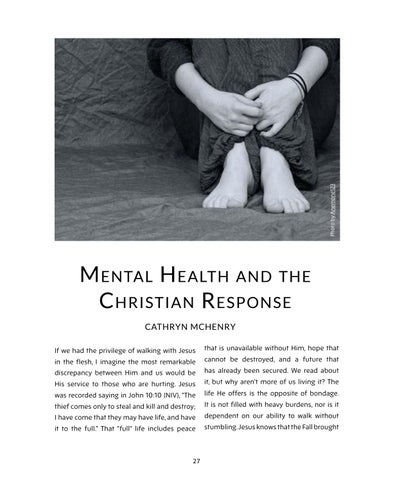 Page 27 of Mental Health and the Christian Response
