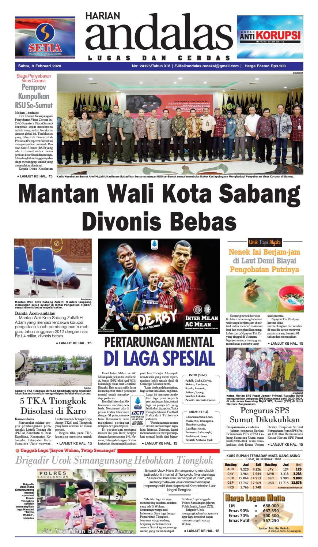 Epaper Harian Andalas 08 Februari 2020 By Media Andalas Issuu