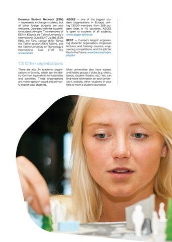 Page 29 of 7. Student organisations and networks