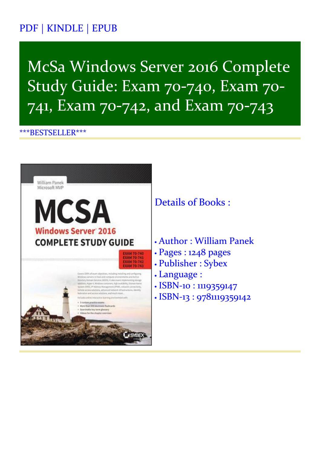 Exam 70-741 MCSA Windows Server 2016 Practice Tests: Exam 70-740 and Exam 70-743 Exam 70-742
