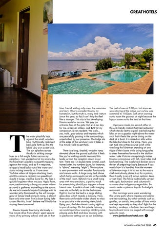 Page 45 of Great Hotels: Impala Eco Lodge Kisumu