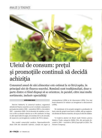 Page 28 of Uleiul de consum: prețul și promoțiile continuă să decidă achiziția