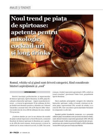 Page 32 of Noul trend pe piața de spirtoase: apetența pentru mixologie, cocktail-uri și long drinks