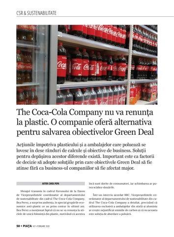 Page 52 of The Coca-Cola Company nu va renunța la plastic. O companie oferă alternativa pentru salvarea obiectivelor Green Deal