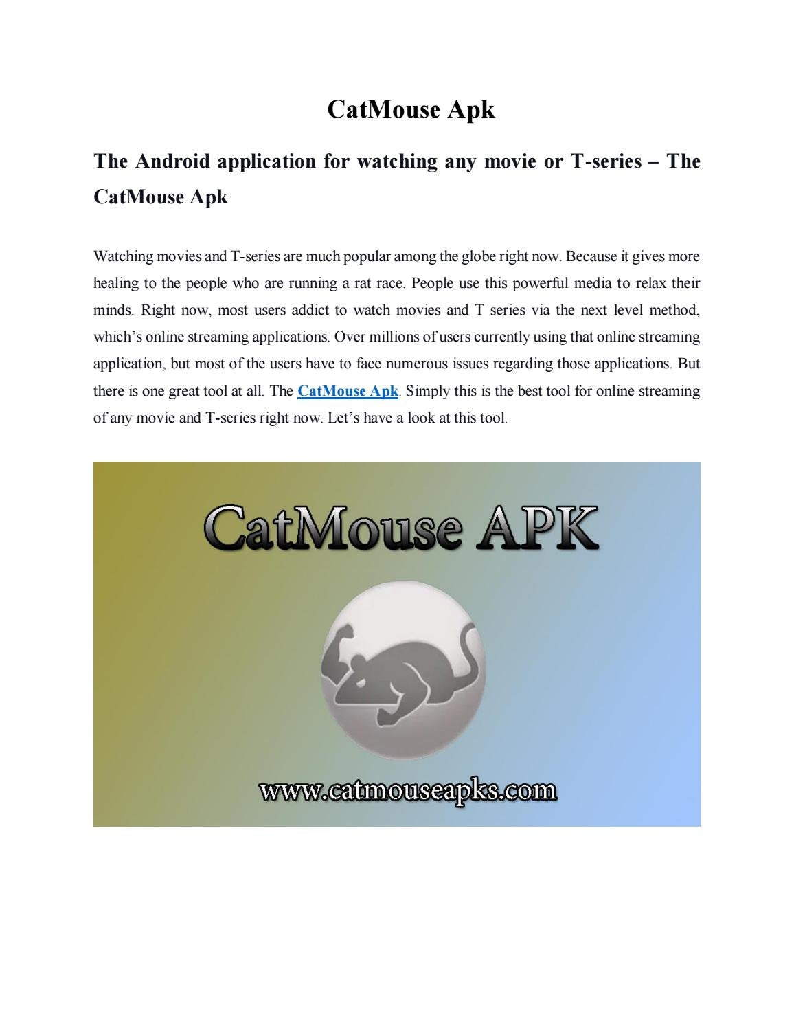 Catmouse Apk The Official Catmouse Apk Download By Catmouse Apk Issuu