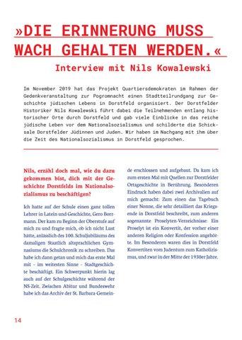 Page 14 of DIE ERINNERUNG MUSS WACH GEHALTEN WERDEN