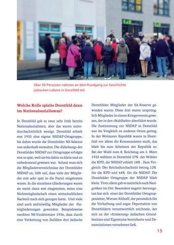 Page 15 of DIE ERINNERUNG MUSS WACH GEHALTEN WERDEN