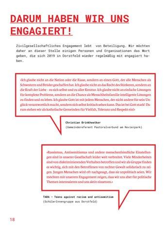 Page 18 of DARUM HABEN WIR UNS ENGAGIERT