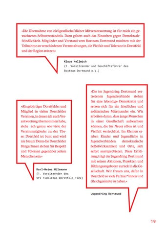 Page 19 of DARUM HABEN WIR UNS ENGAGIERT