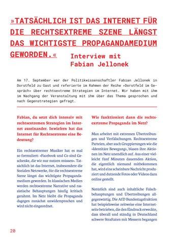 Page 20 of TATSÄCHLICH IST DAS INTERNET FÜR DIE RECHTSEXT REME SZENE LÄNGST DAS WICHTIGSTE PROPAGANDAMEDIUM GEWORDEN
