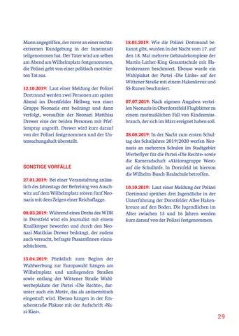 Page 29 of CHRONIK RECHTSEXTREMER VORFÄLLE IN DORSTFELD 2019