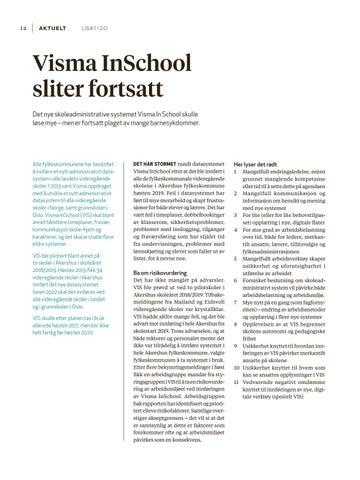 Page 14 of Visma InSchool sliter fortsatt