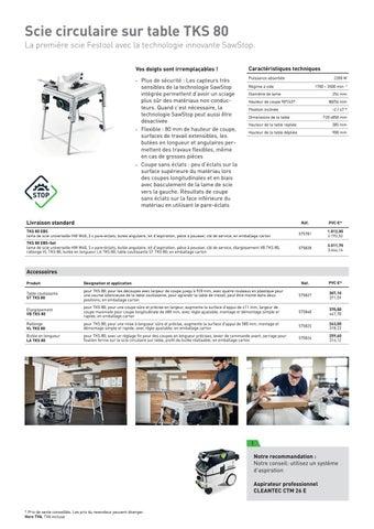 Page 3 of Nouveautés Printemps 2020 - Scie sur table TKS 80 avec technologie SawStop