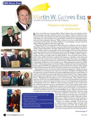 Page 18 of RISING STAR: MARTIN W. GEHRES ESQ