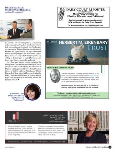 Page 19 of RISING STAR: MARTIN W. GEHRES ESQ