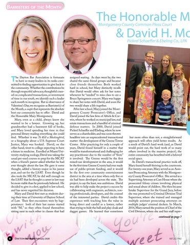 Page 6 of BARRISTERS OF THE MONTH: THE HONORABLE MARY E. & DAVID H. MONTGOMERY
