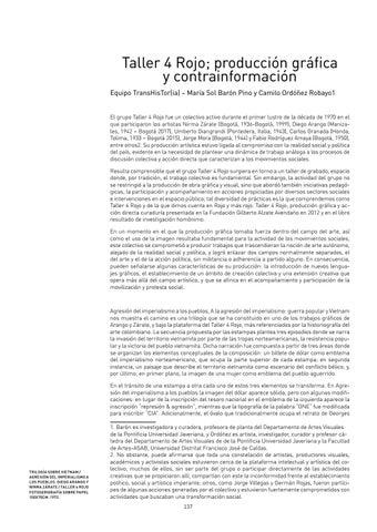 Page 137 of Taller 4 Rojo; producción gráfica y contrainformación