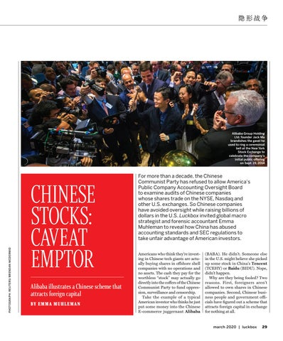 Page 31 of CHINESE STOCKS: CAVEAT EMPTOR