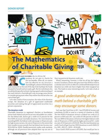 Page 12 of The Mathematics Of Charitable Giving
