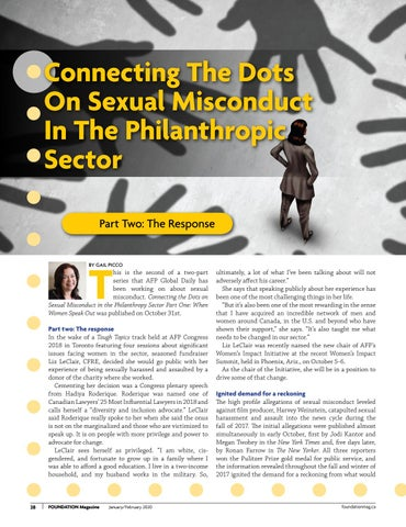 Page 28 of Connecting The Dots On Sexual Misconduct In The Philanthropic Sector