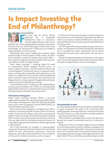 Page 32 of Is Impact Investing The nd Of Philanthropy?