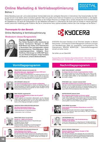 Page 16 of Bühne 1 - DFC 2020 Frankfurt Bereich Online Marketing & Vertriebsoptimierung