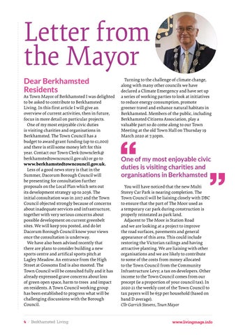 Page 4 of Letter from the Mayor: our new regular feature
