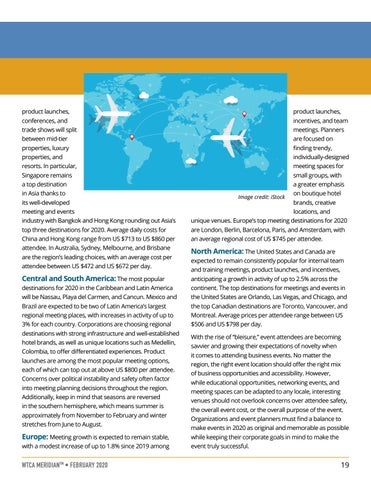 Page 19 of TRENDS: Top Regions and Trends for Hosting Business Events and Meetings