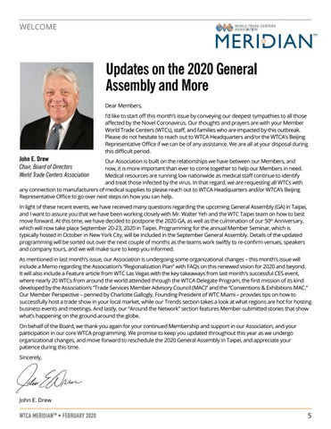 Page 5 of WELCOME: Updates on the 2020 General Assembly and More