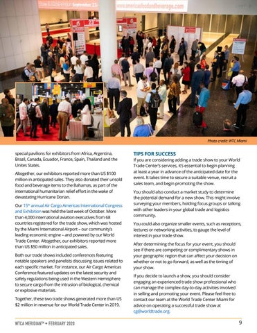 Page 9 of MEMBER PERSPECTIVE: Trade Shows Offer New Revenue Opportunities for World Trade Centers