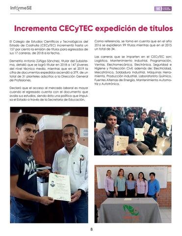 Page 10 of Incrementa CECyTEC expedición de títulos