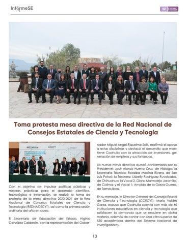 Page 15 of Toma protesta mesa directiva de la Red Nacional de Con sejos Estatales de Ciencia y Tecnología
