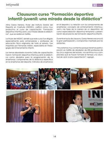 """Page 16 of Clausuran curso """"Formación deportiva infantil-juvenil: una mirada desde la didáctica"""