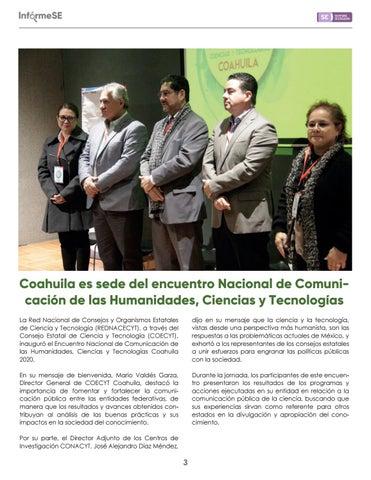 Page 5 of Coahuila es sede del encuentro Nacional de Comunicación de las Humanidades, Ciencias y Tecnologías