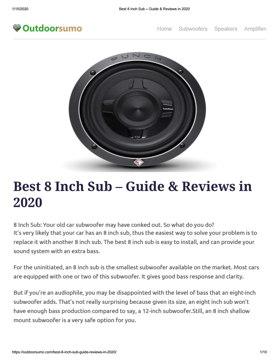 """NEW 2 8/"""" SubWoofer Speakers.4ohm.eight inch bass sub woofer.Audio Pair.8inch"""