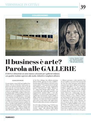 Page 39 of Il business è arte? Parola alle gallerie