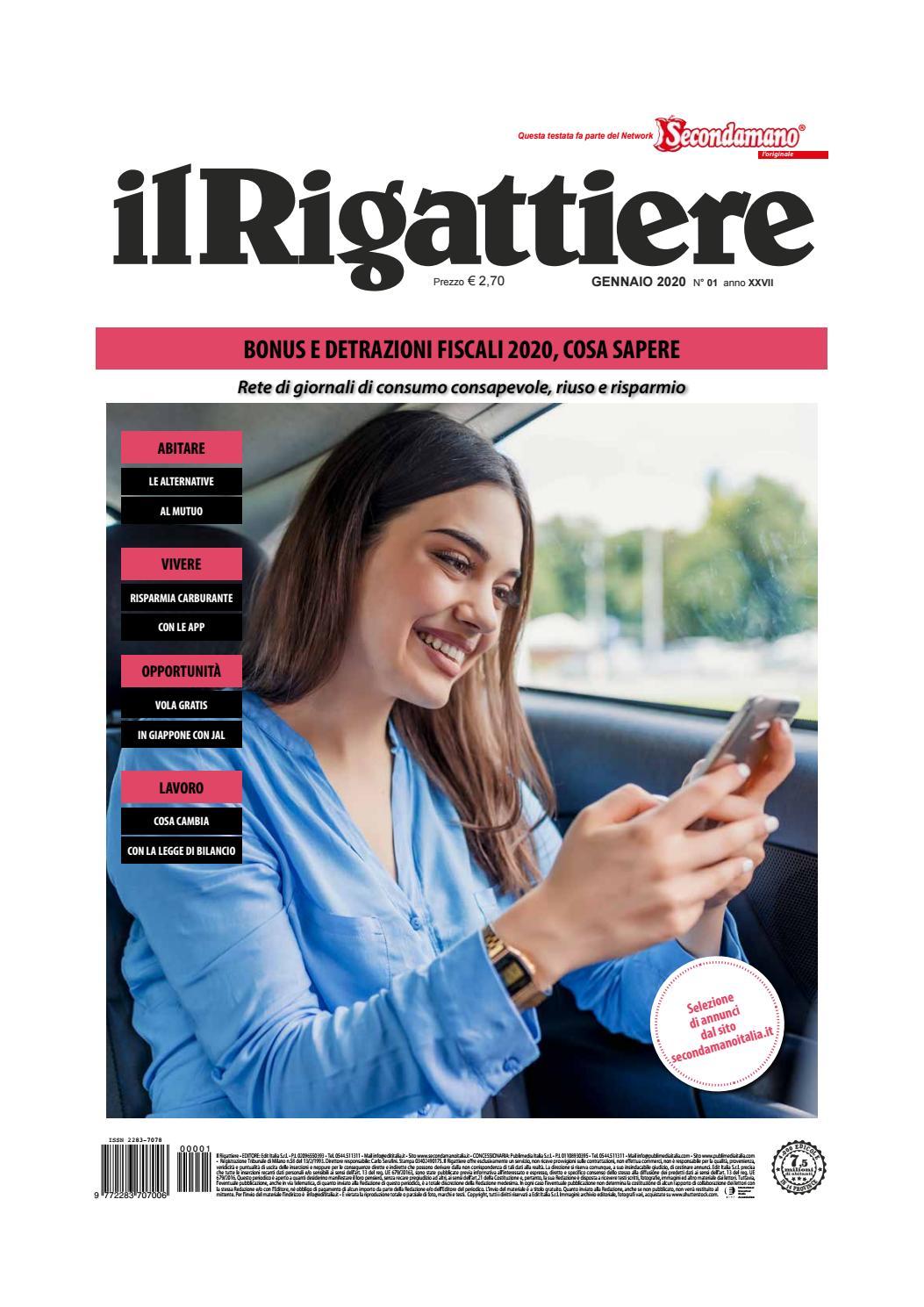 Detrazione Tinteggiatura Interna 2016 il rigattiere_gennaio 2020 by edit italia s.r.l. - issuu