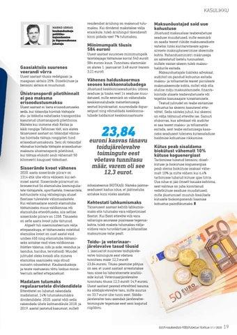 Page 19 of Millised seadusemuudatused meid tänavu ootavad?