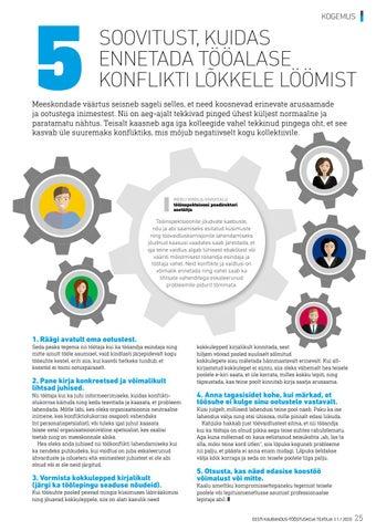 Page 25 of Viis soovitust tööalase konflikti vältimiseks