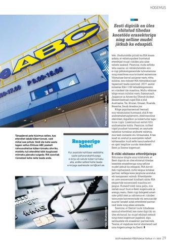 Page 29 of RIA ehitab e-riiki koos ettevõtjatega