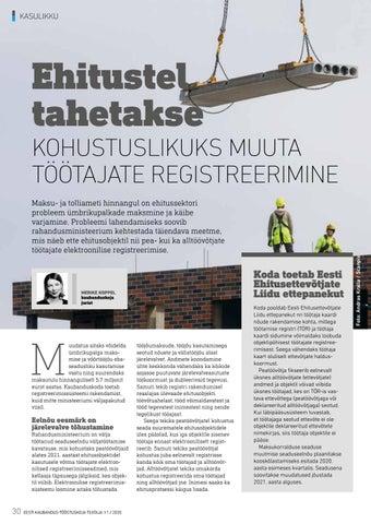 Page 30 of Töötajate reaalajas jälgimine toob ehitusfirmadele tööd juurde
