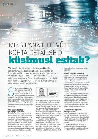 Page 32 of Miks pank ettevõtte kohta detailseid küsimusi esitab?