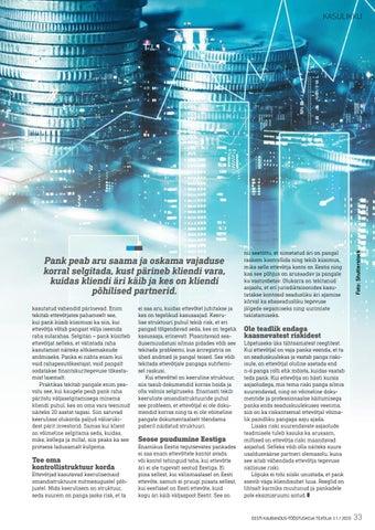 Page 33 of Miks pank ettevõtte kohta detailseid küsimusi esitab?