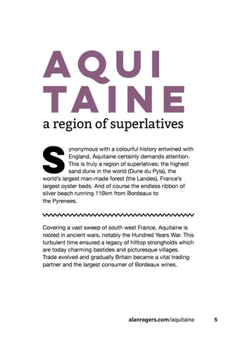 Page 7 of Aquitaine: a region of superlatives