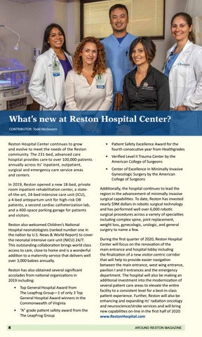 Page 14 of What's New at Reston Hospital Center